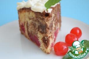 Рецепт Вишнёво-шоколадный пирог