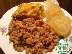 Рецепт Гречневая каша с курицей