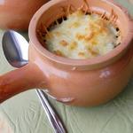 Рис с мидиями в сливочно-чесночном соусе