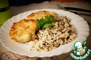 Рецепт Котлеты из трески со сливочным рисом