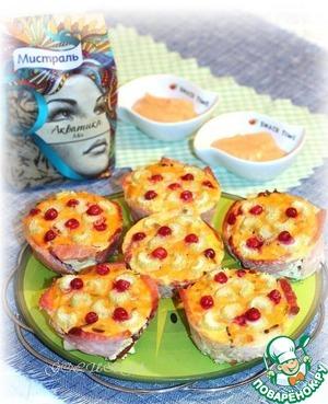 Рецепт Закусочные корзиночки с беконом и рисом Акватика Mix