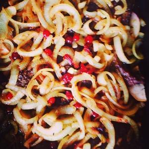 Рецепт Печень по-берлински с клюквой и яблоком