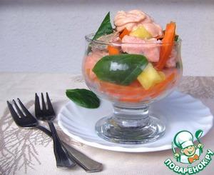 Рецепт Салат-коктейль из лосося и шпината
