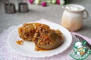 Рецепт Фаршированный перец с грибами и рисом