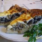 Грибная пицца-пирог