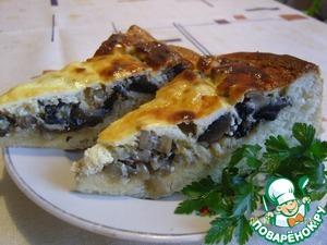 Рецепт Грибная пицца-пирог