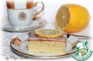 Рецепт Брауни с лимоном и белым шоколадом
