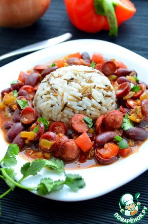 Рис с фасолью по-каджунски домашний пошаговый рецепт приготовления с фото