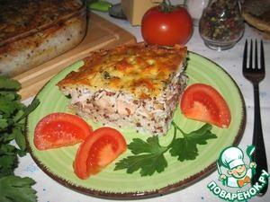 Рецепт Рисовая запеканка с лососевыми молоками