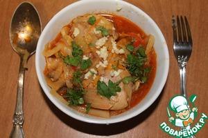 Рецепт Солянка капустная с курицей
