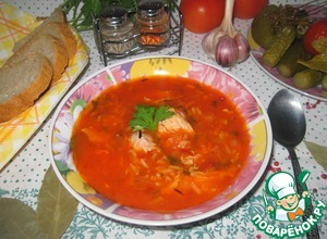 Рецепт Томатный суп с индейкой и рисом