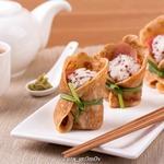Темари-суши в яичном блине