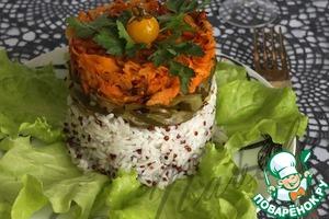 Рецепт Закусочный салат с рисом и киноа