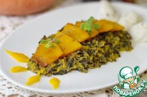 Рецепт Дикий рис с тыквой и творожным сыром