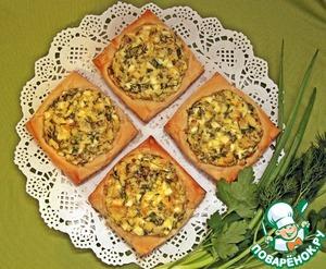 Рецепт Ленивые пирожки со свежей зеленью