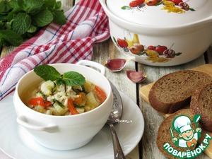 Рецепт Рисовый суп с овощами и мятой
