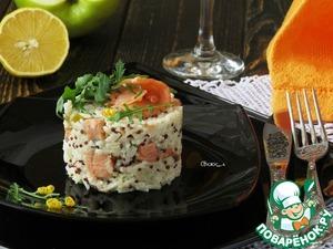 Рецепт Яблочное ризотто с копчёным лососем