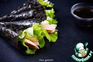 Рецепт Темаки-суши с курицей и ананасом