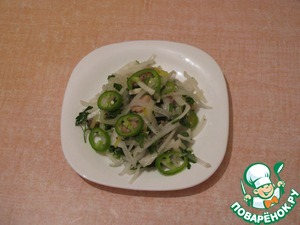Как приготовить Салат с редькой дайкон и свининой вкусный пошаговый рецепт приготовления с фотографиями