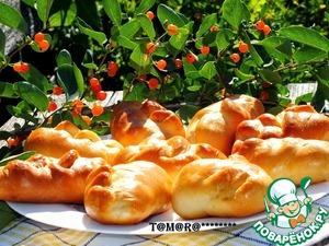 Рецепт Плетеные пирожки с зеленым луком и яйцом