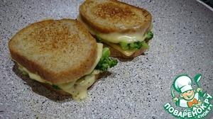 Рецепт Горячие бутерброды с брокколи и сыром