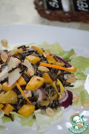 Рецепт Салат из дикого риса с куриной грудкой