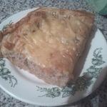 Пирог из слоеного теста с куриным фаршем