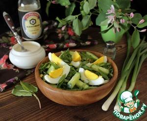 Как приготовить Огуречный салат с щавелем рецепт приготовления с фото