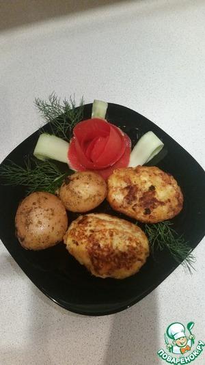 Рецепт Нежные котлетки из индейки с кабачком