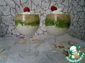 Рецепт Десерт фруктово-творожный