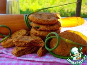 Рецепт Печенье цельнозерновое с чесночными стрелками