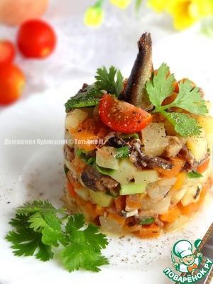 Рецепт Шпротный салат с ананасом