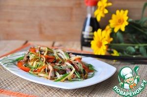 Рецепт Горячий китайский салат из картофеля и свинины