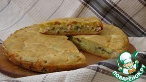 Рецепт Заливной пирог с сыром, зеленью и грудинкой