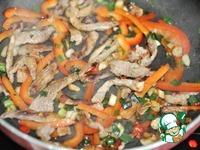 Горячий китайский салат из картофеля и свинины ингредиенты