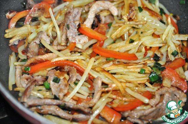 Салат из картофеля по китайски