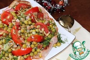 Рецепт Салат из кабачков, зеленого горошка и бекона