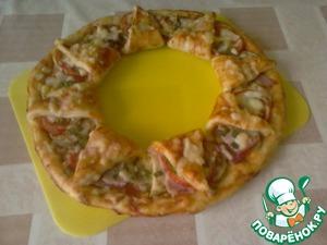 """Рецепт Пицца """"Корона"""" с кабачками и луковые кольца в кляре"""