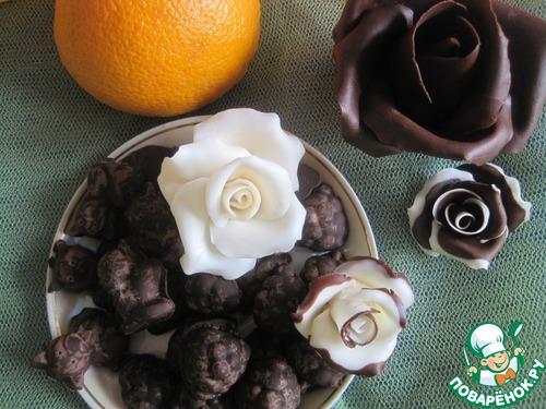 Шоколадные конфеты с апельсиновым соком