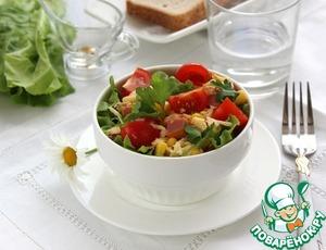 Рецепт Салат с ветчиной, кукурузой и сыром