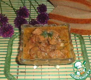 Рецепт Гуляш из утки с лимонным соком