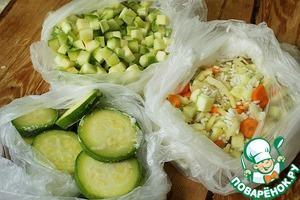Рецепт Как заморозить кабачки на зиму