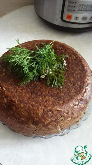 Рецепт Печеночный пирог с рисом в мультиварке