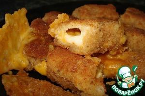 Рецепт: Хрустящие сырные палочки за 5 минут