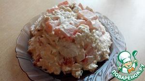 Рецепт Салат из курицы с сыром и чесноком