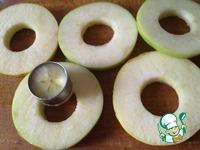 Гренки c печеными яблоками и вишневым соусом ингредиенты