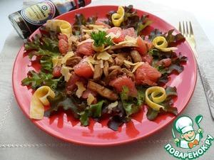 Рецепт Салат с курицей, грейпфрутом и сыром