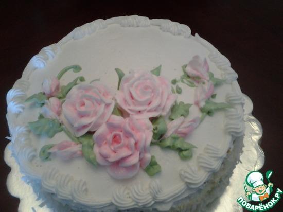 Заварной крем для украшения тортов который держит форму пошагово фото