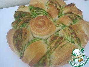 Рецепт Пирог с сыром и зеленым соком