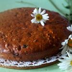 Постный кофейный пирог с черносливом